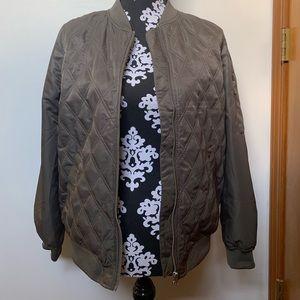 Gray Light Puff Jacket
